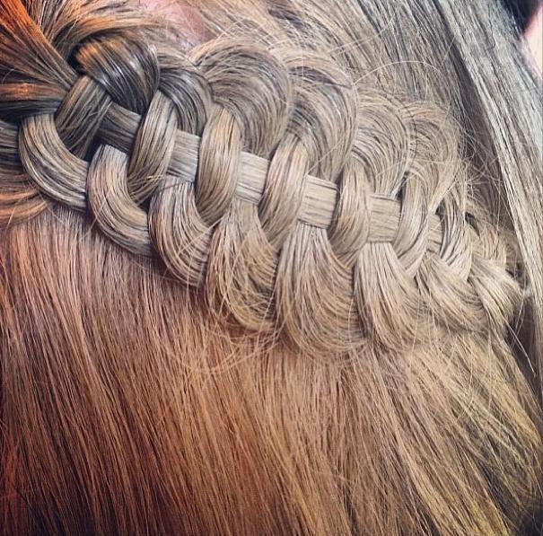 Four strand slide up braid