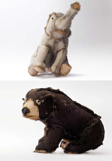 Recycled Plush Toys. Stuffed animals that have been turned inside out, re-stuffed and sewn back up.
