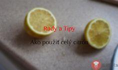 Rady a tipy | Mrazený citrón