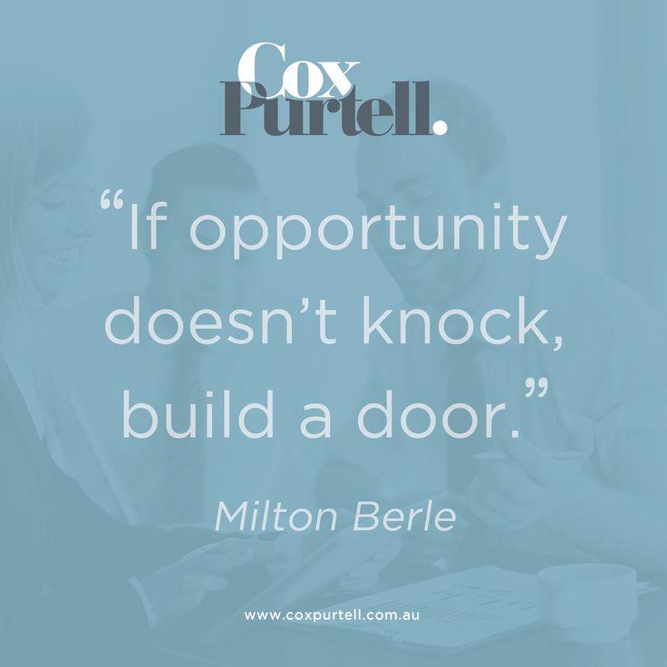 Milton Berle Quote - Cox Purtell Recruitment