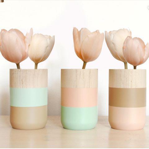 #Blomvas #vas #trävas #blommor #handgjord #woodenvase #inredning #kommenteraförpris #heminredning