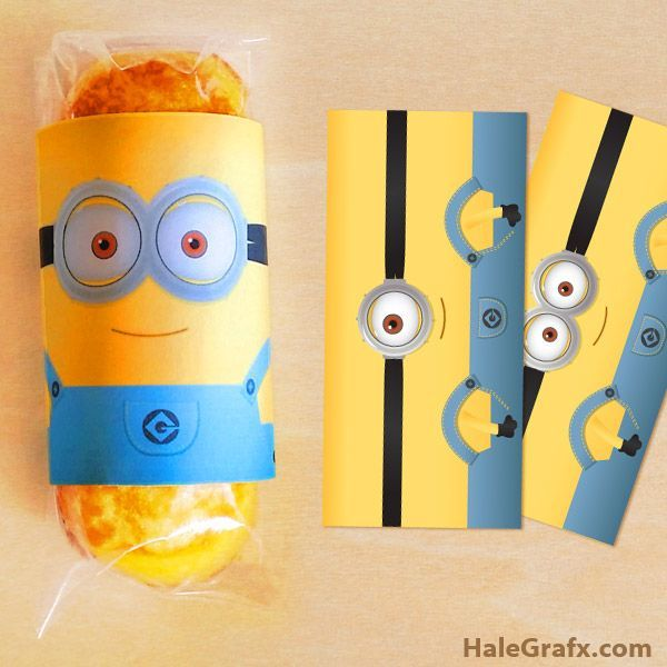 minion twinkie wrapper FREE Printable Despicable Me Minion Twinkies Wrappers