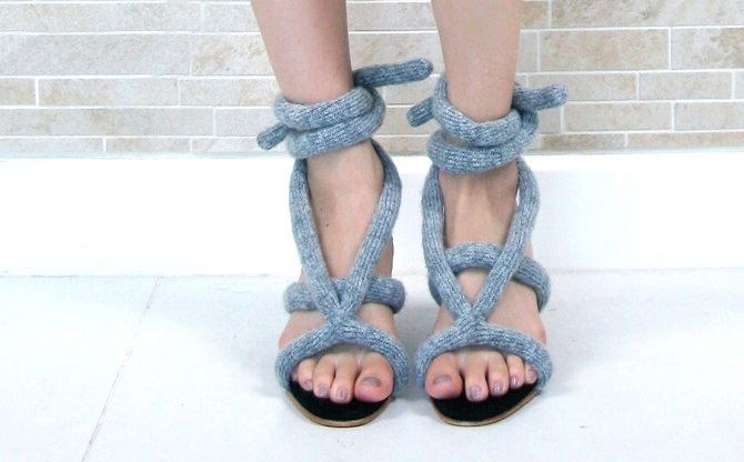 Would you wear these?: Knits Techniques, Favourit Knithack, Knits Garment, Ropes Sandals, Knits Ropes, Knits Stuff, Crochet Knits, Laceup Sandals, Knits Tricot