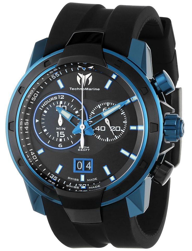 TechnoMarine Menu0027s 611004 UF6 Black PVD Bezel Watch  sc 1 st  Pinterest & 297 best Men Watches images on Pinterest | Menu0027s watches Menswear ... azcodes.com