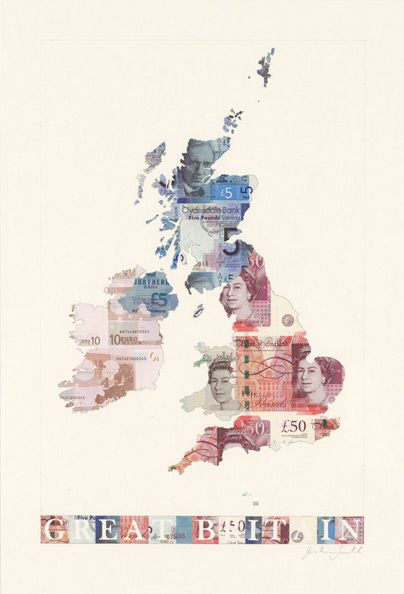 currency map of Britain