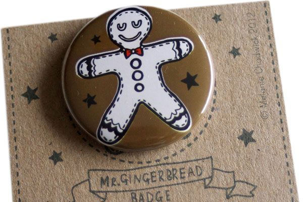 gingerbread man badge by Mellybee