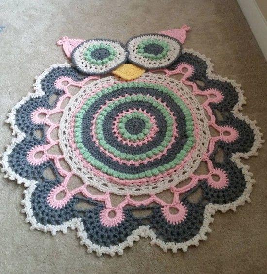 Crochet Owl Rug Pattern: Best 25+ Crochet Doily Rug Ideas On Pinterest