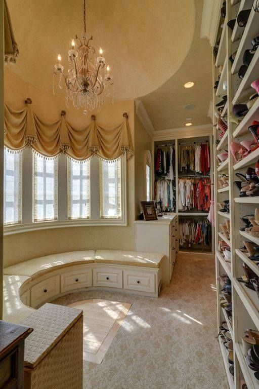 Lovely Walk-in-Closet with bay window seating