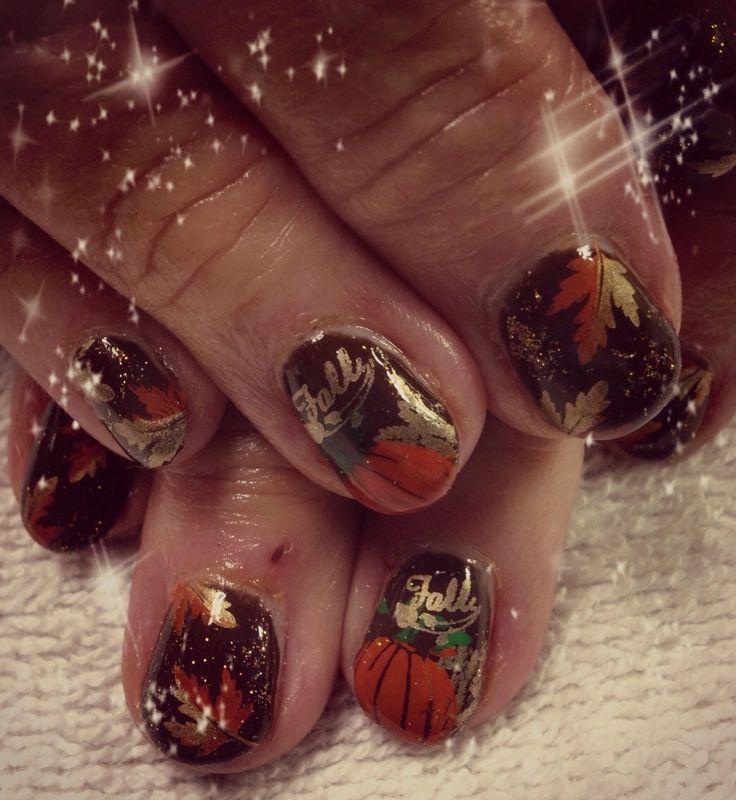 Fun Fall Nail Designs: Fall / Autumn / Thanksgiving Nails