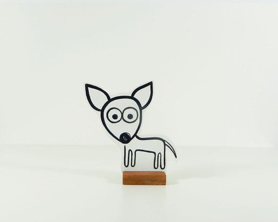 Wooden Chihuahua Fifi. Ideal pet. Looks adorable!