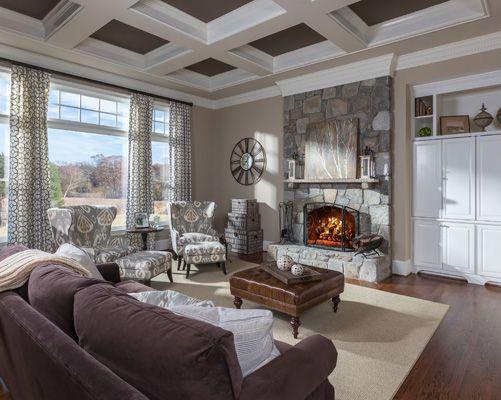 Lauren nicole designs family room interior design charlotte nc lake norman