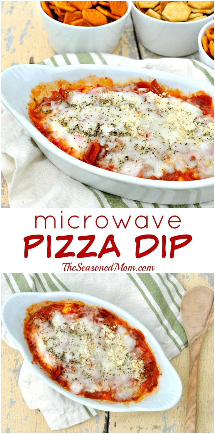 Get your kids in the kitchen with a fun, easy, and healthy snack that's packed with veggies, protein, and flavor! MICROWAVE PIZZA DIP is ready in just minutes! #ad
