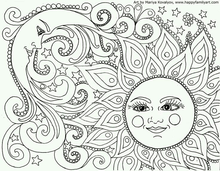 fun and original coloring pages a good pastime for just being still quiet could frame hang the finished products ps they dont have to be - Free Coloring For Adults