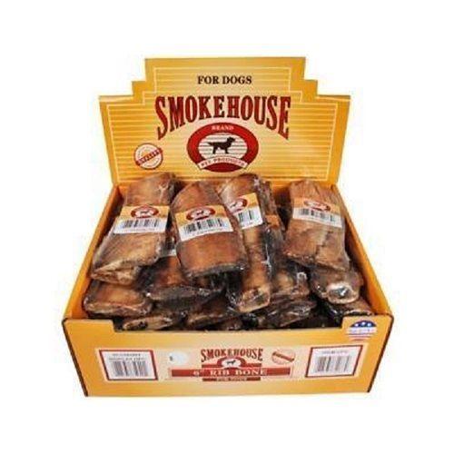 "Smokehouse Natural Roasted 6"""" Rib Bone Dog Chews - 30 Pack"