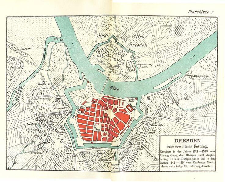 Dresden planskizze5 1529 - Geschichte Dresdens – Wikipedia