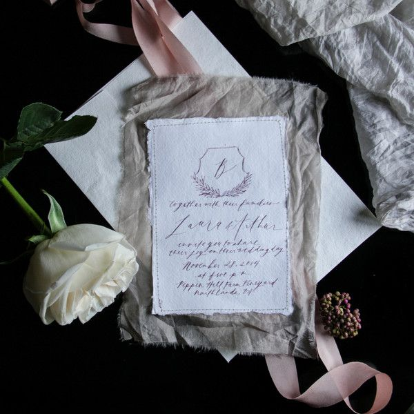 Handmade 100% recycled cotton rag paper with deckled edging. Perfect for event invitations. These beautiful cards are crafted by hand with 100% cotton rag. Genuine rag papers are rare and it's the fib