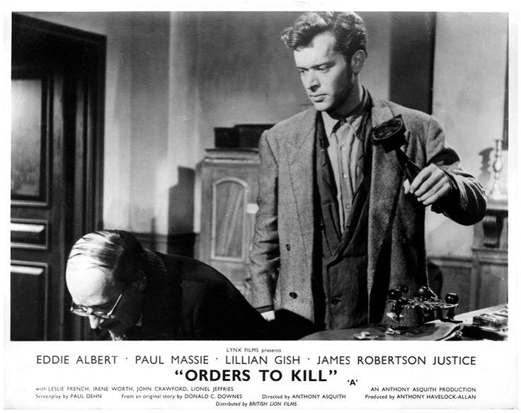 A Year of Spy Films 238/365 Orders to Kill (1958 United Kingdom)  The International Spy Film Guide Score: 8/10  #isfg #spyfilmguide #pauldehn #anthonyasquith #resistance #ww2 #spymovie #spyfilm https://www.kisskisskillkillarchive.com