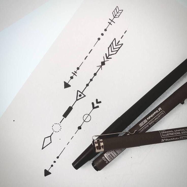 Small arrows tattoo design....Feliz martes. Gracias por seguir mi trabajo :)