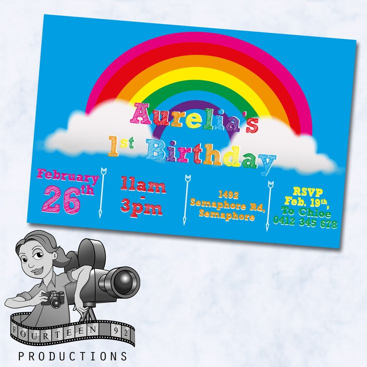 Rainbow Invites by fourteen92prod on Etsy https://www.etsy.com/au/listing/520036525/rainbow-invites