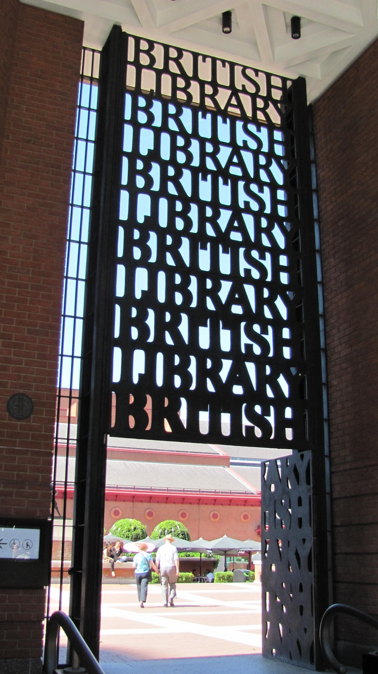 Beautiful typography at the entrance of the British Library