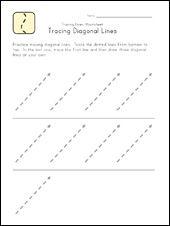 trace diagonal lines
