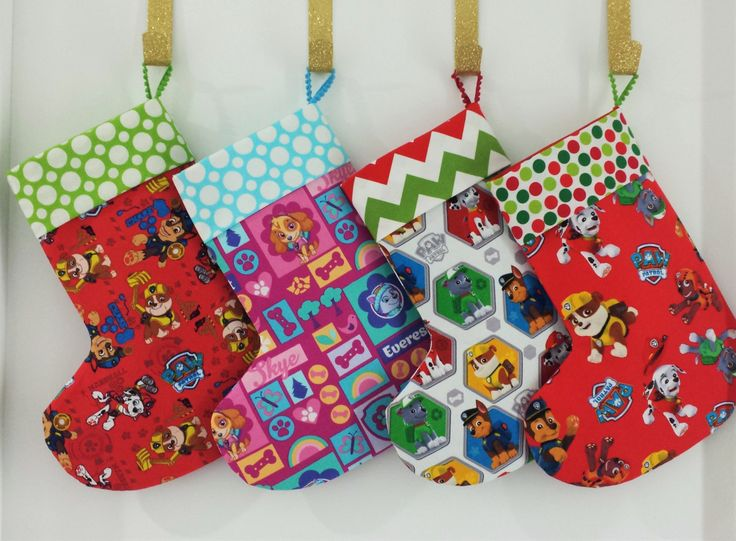 Handmade Christmas Stockings - Paw Patrol Collection by MattynMe on Etsy