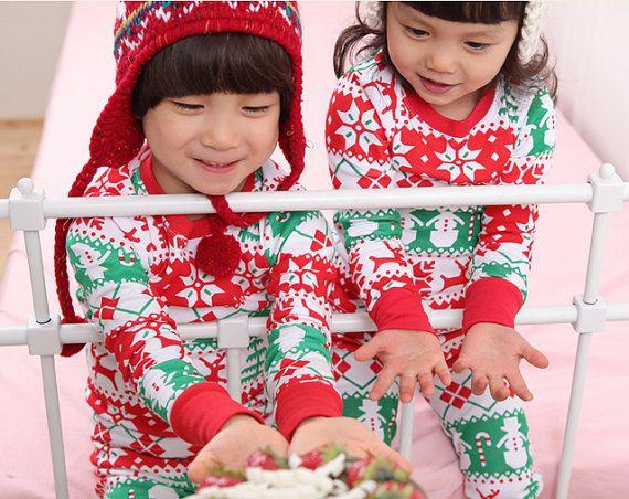 Christmas Pajamas for kids on Etsy, $24.61 CAD