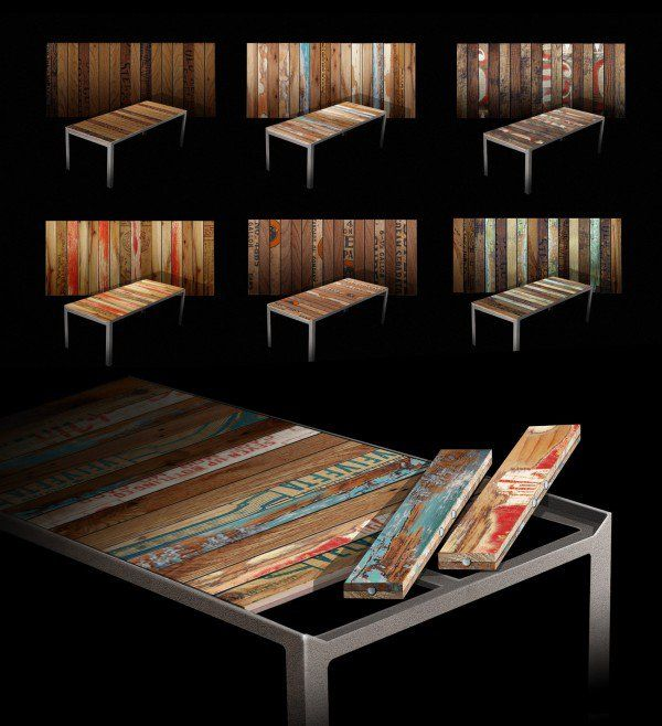 The Re Surface Table Upcycled Furniture Wood & Organic