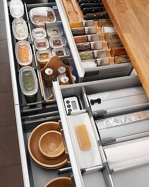 IKEA kitchen organization for drawers-I would just stare at this loveliness all day