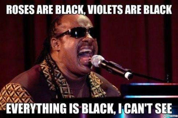 Roses are black meme - http://www.jokideo.com/