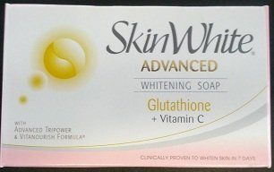 Skinwhite Glutathione Whitening Body Bar Soap (90g) by Splash Corporation. $7.99. Dermatologically proven safe and effective. It delivers intense whitening that helps lighten even stubborn marks and spot in just seven days. Its Vitanourish formulahas vitamins B3 & E, making your skin soft and smooth all over. Powerful Anti-oxidant that makes skin healthy white, glowing and youger looking.
