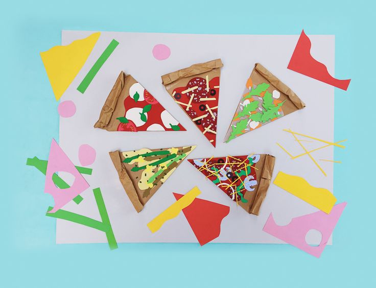 Pizza paper craft by Beci Orpin for Lunch Lady Issue Two. Lunch Lady Magazine available at http://shop.hellolunchlady.com.au/