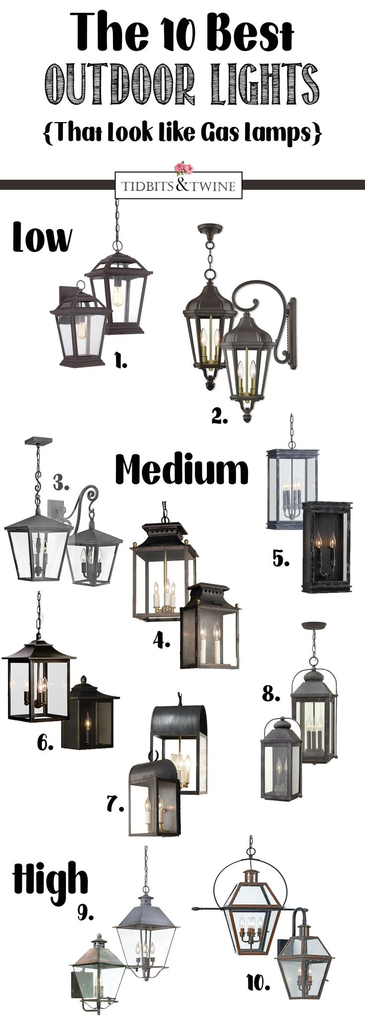 The BEST Outdoor Hanging Lights and Sconces that look like gas lamps, but are electric!