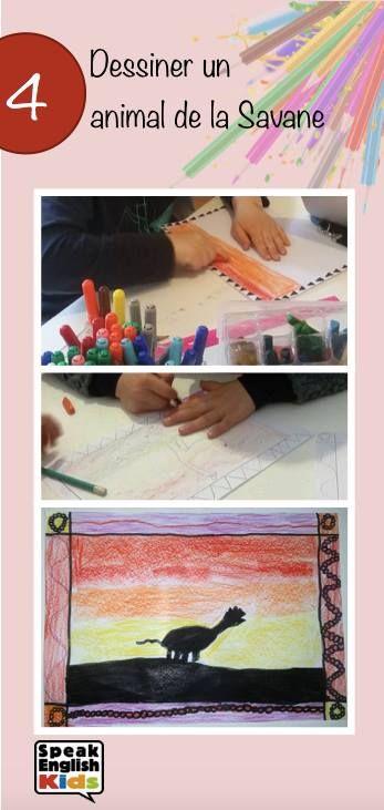 Découvrez les étapes pour dessiner un animal de la savane au crayon et au feutre