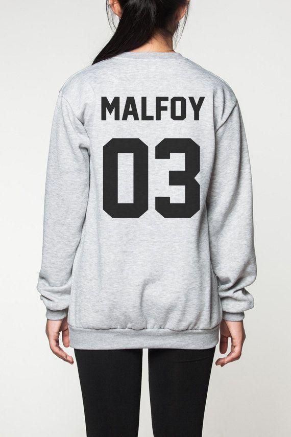 Harry Potter chemise femmes pull sweatshirt hommes chemise tshirt long manches pull manches longues tshirt Malefoy 03 Plus