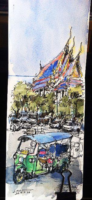Wat Pho By lllouis  www.sketchlandyard.com