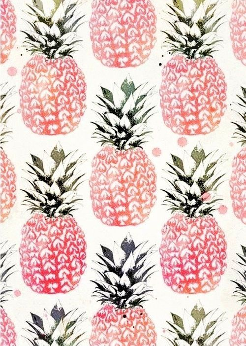 Think Pink Ananas Background