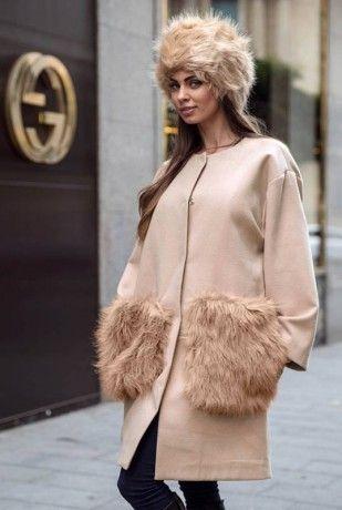 Palton Krista Caciula de blana CREM New Arrivals | ChicDiva faux fur, autumn, winter, 2016, fashion, fashionista, ootd, outfit, fur, outfitoftheday,shopping, fall, glam streetstyle, krista, coat