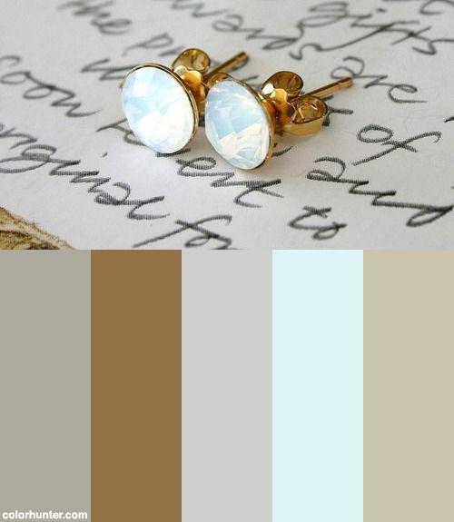 Swarovski Earrings White Opal Gold Round Diamonds Color Scheme