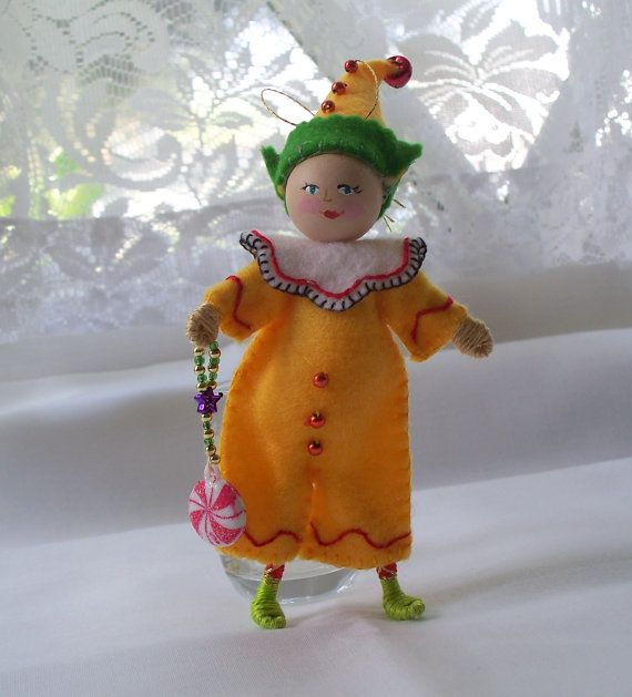 Christmas Ornament  Christmas Elf with Candy by WhisperingOak
