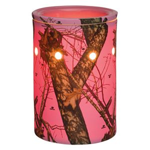Mossy Oak Break-Up Pink Scentsy Warmer PREMIUM   Camouflage goes all-girl with Mossy Oak's Break-Up® pattern of leaves, acorns, and branches on a hot pink base.