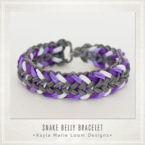 Rainbow Loom Bracelet Mini Snake Belly by KaylaMarieLoomDesign