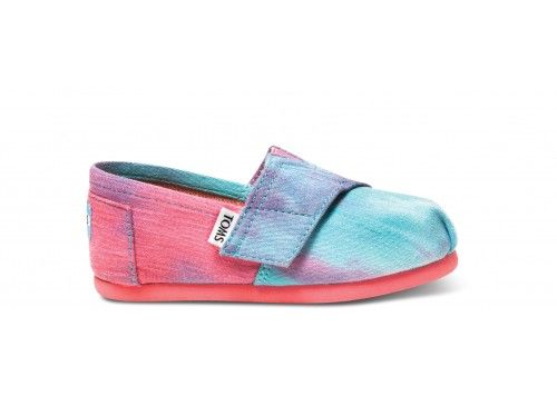 Pink and Blue Tie Dye Tiny TOMS Classics | TOMS.com #toms