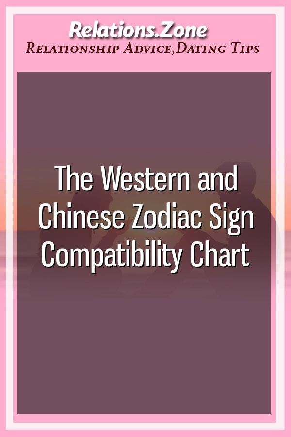 The Western And Chinese Zodiac Sign Compatibility Chart Zodiac
