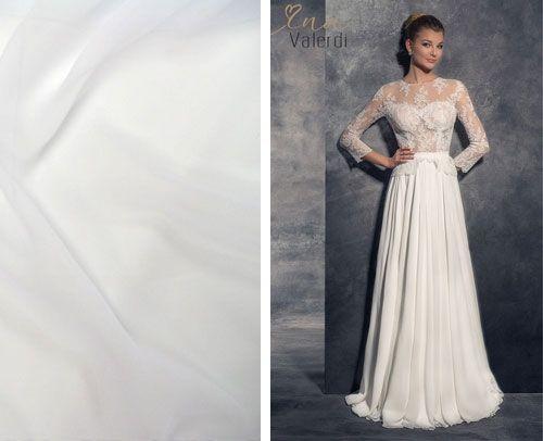 Šifónové svadobné šaty