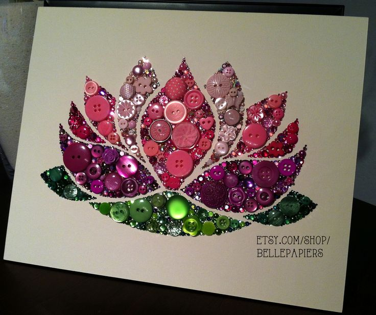 Button & Swarovski Crystal Rhinestones!