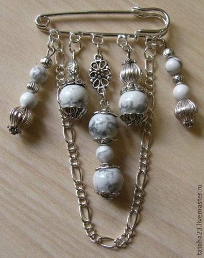 Handmade brooches.  Fair Masters - handmade brooch-pin winter morning.  Handmade.