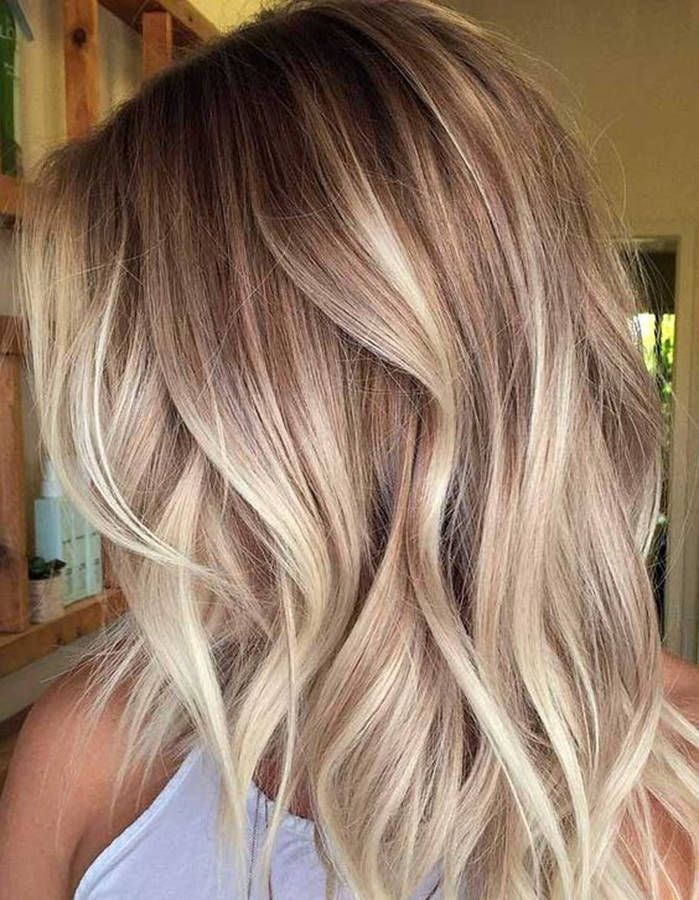 Ombré hair beige