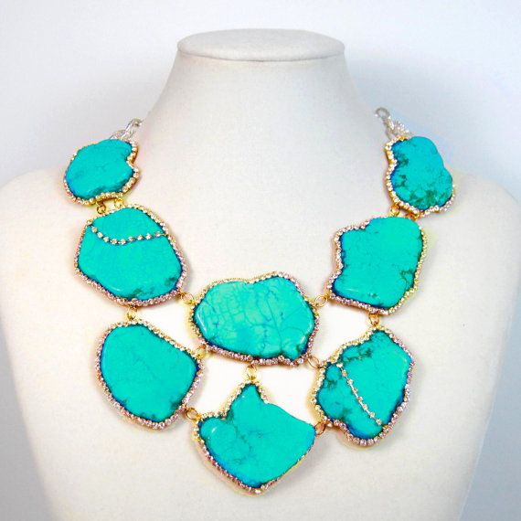 turquoise: Fashion Shoes, Jewelry Necklaces, Statement Necklaces, Aqua Blue, Turquoi Jewelry, Gold Necklaces, Girls Fashion, Girls Shoes, Gold Jewelry