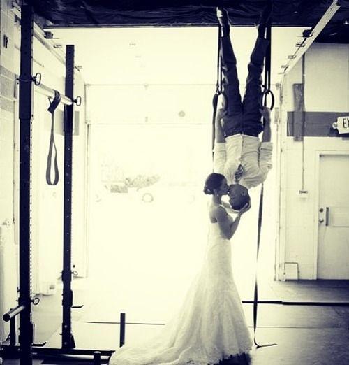 crossfit wedding pic